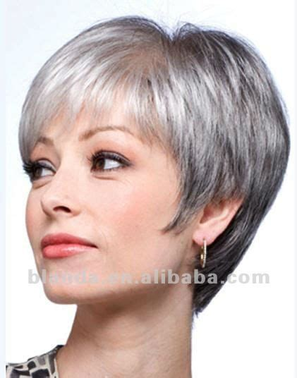 hairstyles for gray hair 60black grey human hair short bob style lace wig buy human hair