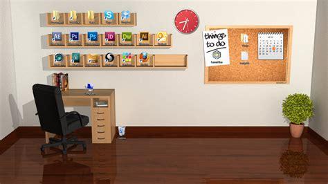 Office Space Xp Wallpaper 画像 模様替え感覚でアイコンを整理 空の部屋のデスクトップ壁紙 棚 机 黒板 Naver まとめ