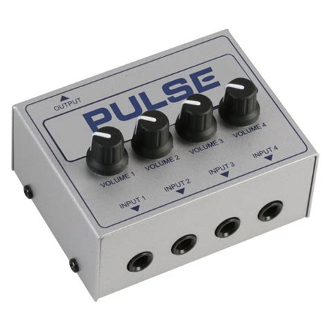 Mixer Audio Line pulse linemix4p 4 channel passive audio line mixer pulse from visiosound uk