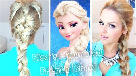 elsa hair color volumised braid hair tutorial frozen elsa