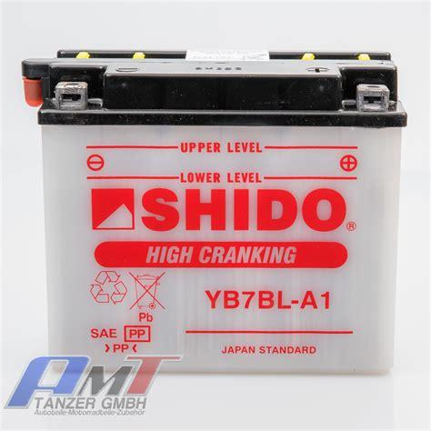 Motorradbatterie Gebraucht by Shido Motorradbatterie Yb7bl A1 12 Volt 7 Ah Batterie Ebay
