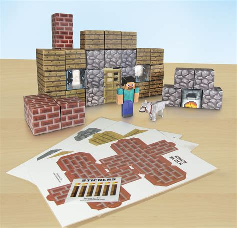 Minecraft Papercraft Shelter Set - jazwares shows range of minecraft papercraft