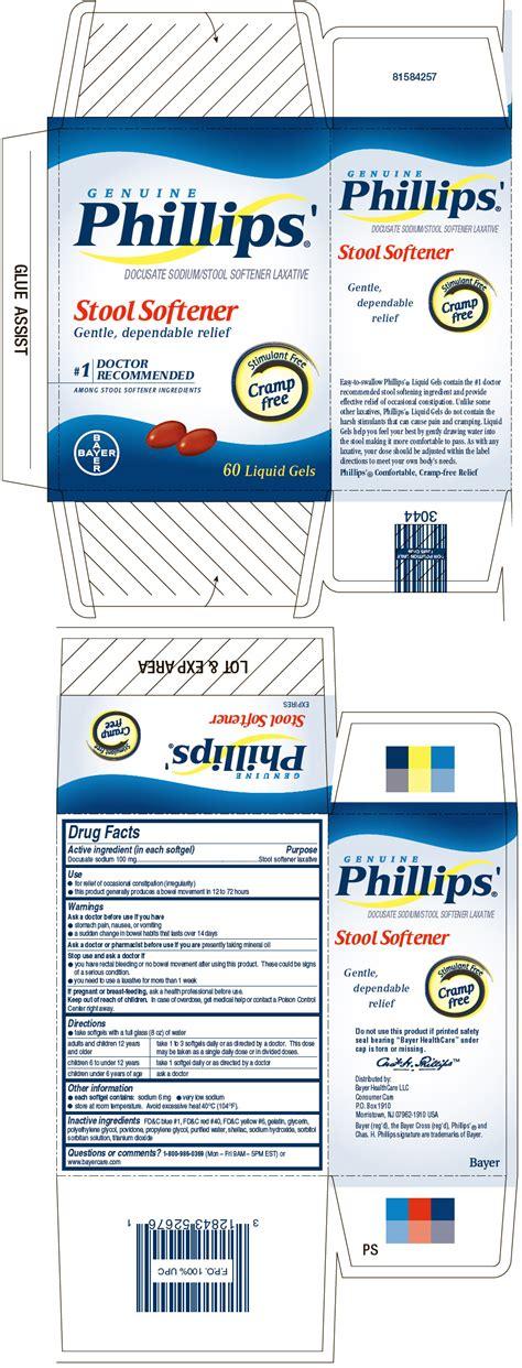 Phillips Stool Softener Dosage phillips stool softener bulk docusate bayer healthcare