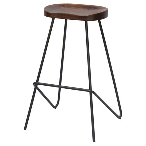 bar stool uk buy grey industrial metal bar stool with wood seat from