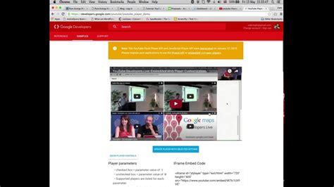 tutorial youtube api tutorial youtube iframe player api youtube