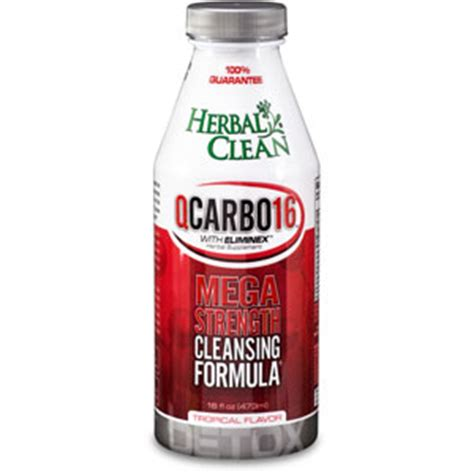 Detox Nutrition Shoppe by Herbal Clean Detox Qcarbo Tropical 16 Oz