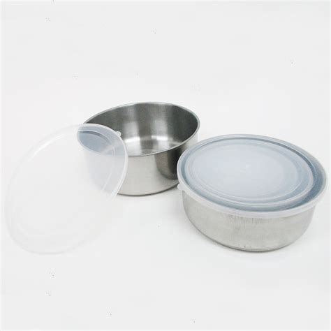 metal food container 10 pcs steel metal food storage saver containers mixing bowl cookware set new ebay