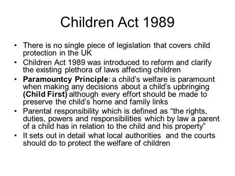 section 17 of the children act 1989 child protection ppt video online download