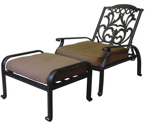 adjustable patio chair and ottoman patio furniture cast aluminum club chair adjustable