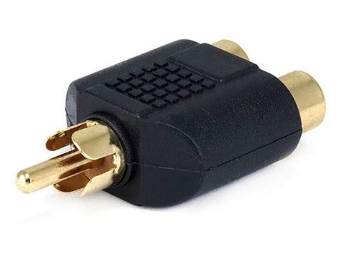 I Rca Connector Sambungan Rca 1p Pole Rca Sambungan 1l rca to 2 rca splitter adapter gold plated monoprice