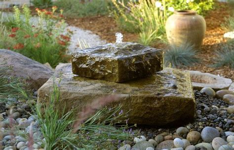 Rock Garden Features On Water A Small Space Seems Larger The Minute You Add The Sound Of