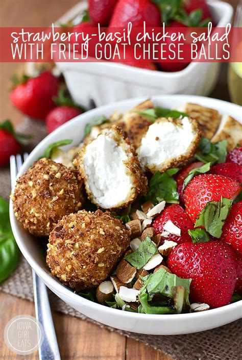 bombs 50 seasonal sweet savory recipes books strawberry basil chicken salad with fried goat cheese
