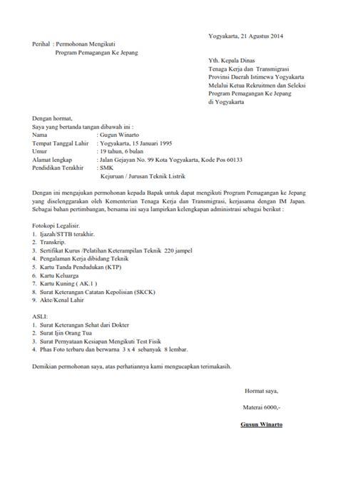 contoh surat lamaran kerja kantor contoh z