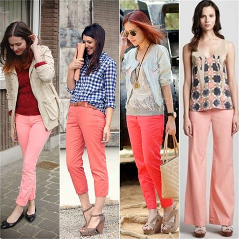 Mix And Match Celana Abu Abu tren fashion 2013 celana warna coral teruskan