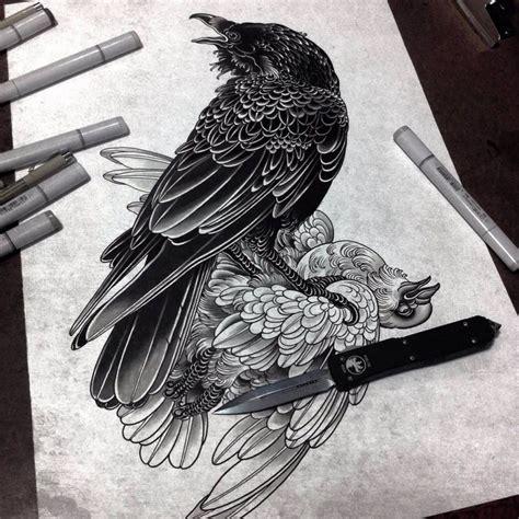 tattoo flash ravens the grim tattoos of alexander grim alexander grim