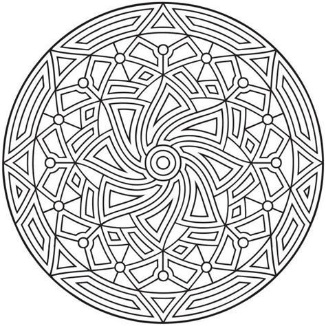difficult geometric design coloring pages rectangles ausmalen erwachsene arabische welt mandala orientalisch 2