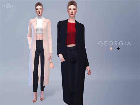 Top Home Decor Magazines by The Sims Resource Accessory Wool Coat Georgia By
