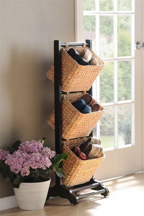 shoe storage basket best 25 shoe basket ideas on shoe storage