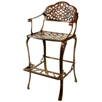 Window Stool Home Depot by Oakland Living Mississippi Patio Bar Stool 2110 Ab The Home Depot