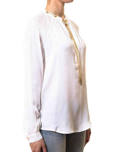 chain necklace blouse by michael kors blouses ikrix