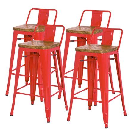 Metropolis Low Back Counter Stool by Metropolis Low Back Metal Counter Stool With Wood Seat