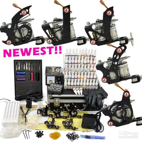 professional tattoo kit  top machine guns ink pigment power plug supply needle wholesal
