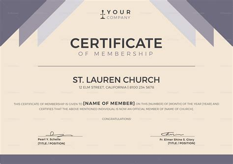 membership certificate template word church membership certificate design template in psd word