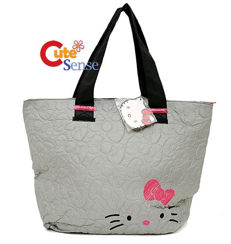 Hello Quilted Bag by Sanrio Hello Quilted Tote Bag W Pink Bow Original Ebay