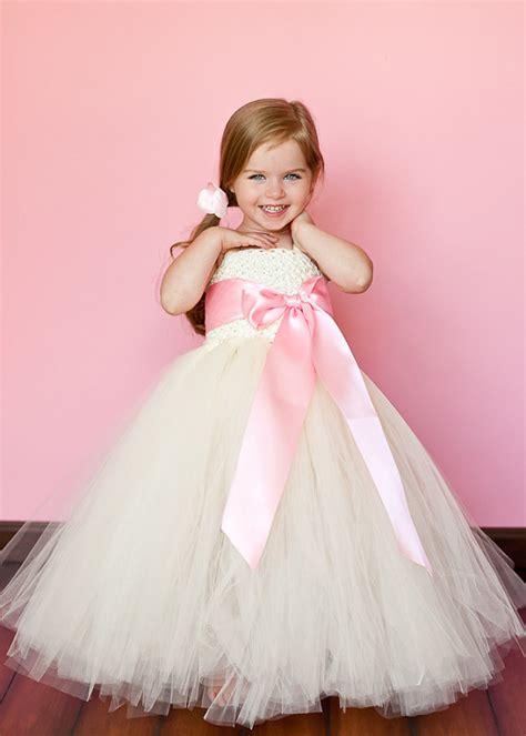 Dress Pink Tutu Flower ivory and pink flower tutu dresses tu tu dresses