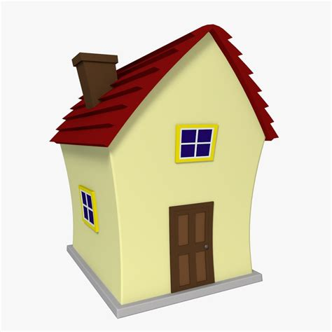 house animated 3d model cartoon house