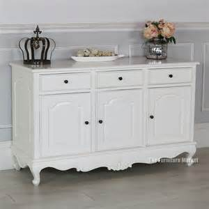Small Dining Room Sideboard French Chateau White Painted 3 Drawer Sideboard