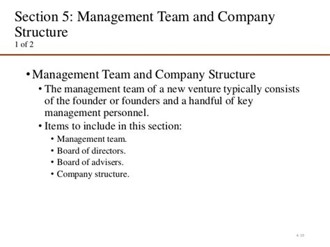 management section of business plan business plan 2