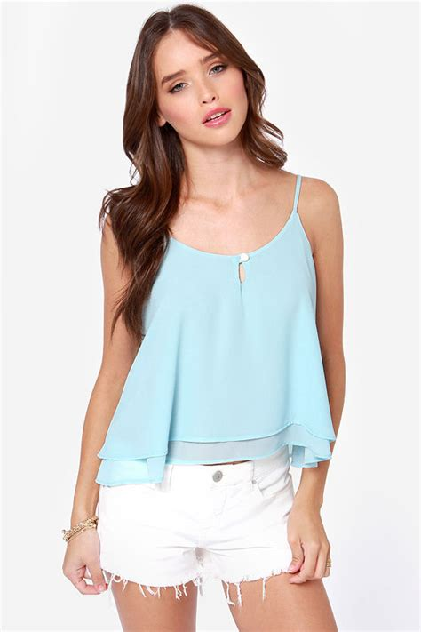 Gloria Jumbo Blouse Light Blue top tank top light blue top 35 00