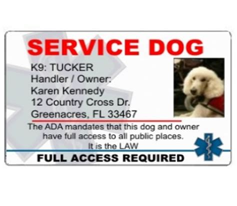 printable service dog id cards service dog id cards to help you travel with your