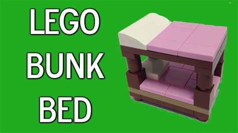 how to make a lego bed how to build a lego bunk bed youtube