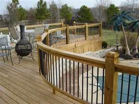 Patio Railing Patio Deck Railing Design Curved Deck Railing
