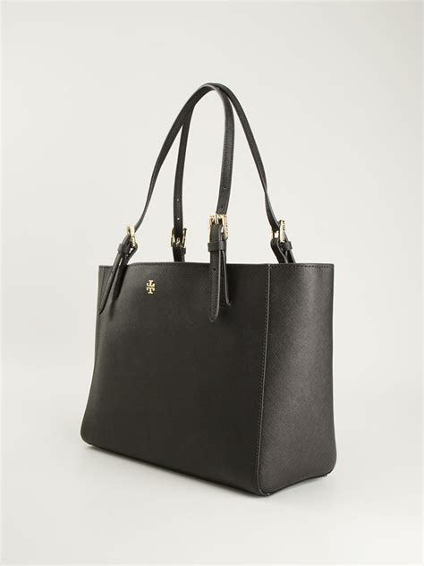 Ready Toryburch York Small Buckle Tote Black burch small york buckle tote in black lyst