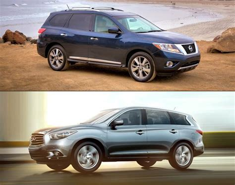 nissan pathfinder infiniti qx60 jx35 vs qx60 autos post