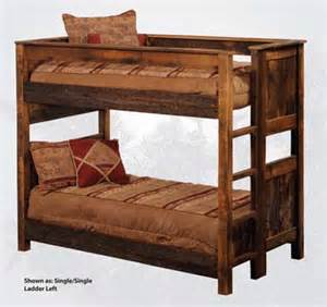 Western Bunk Beds Rustic Barnwood Bunk Beds Western Bedroom Furniture Free Shipping
