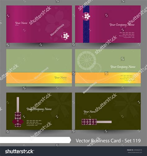 japanese business card template free vector business card template set japanese stock vector