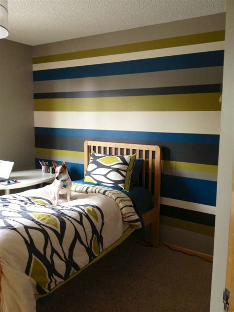striped bedroom walls striped walls teenage boy bedroom home decor