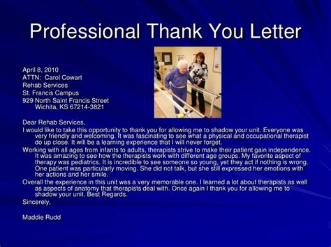 thank you letter to doctor you shadowed catholic health academy electronic portfolio
