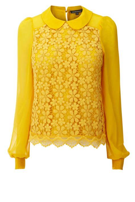 Lois Dobby Yellow Blouse Yellow gucci gucci louis louis fendi fendi prada fashion