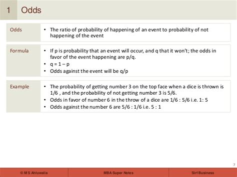 Probability Of Mba mba notes statistics introduction to probability