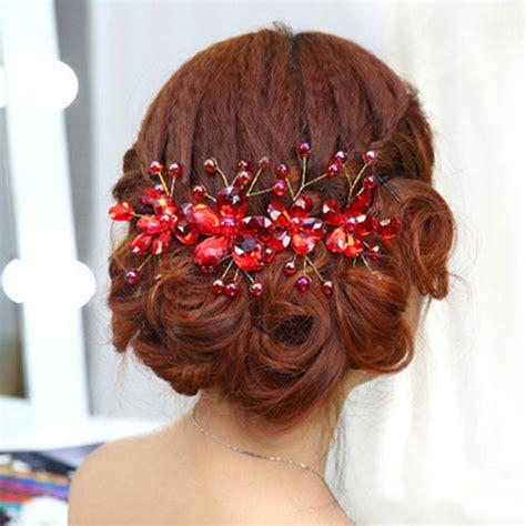 rhinestone hair clip hair band wedding hair accessories flowers hair