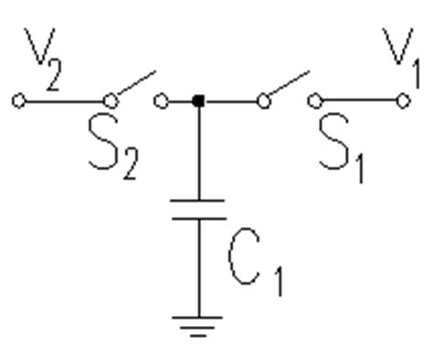 capacitor circuit switch 301 moved permanently