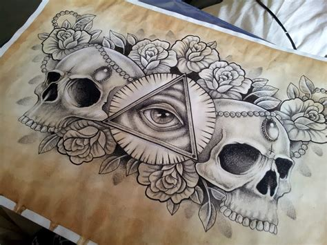skull chest tattoos for men skull and chest ttattoo design for and