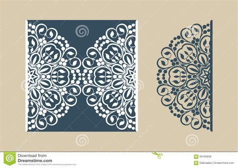 card three picture template template greeting card with openwork pattern stock vector