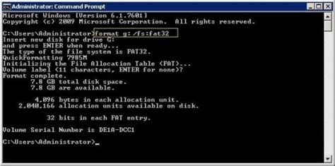 format fat32 command line windows 7 formatting a usb flash drive using fat fat32 ntfs exfat