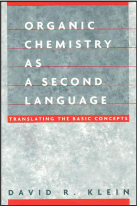 Pdf Organic Chemistry As Second Language by Organic Chemistry As A Second Language Free Pdf
